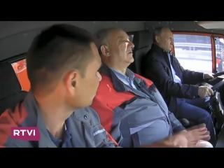 Путин дальнобойщик