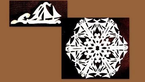 Снежинки ажурные своими руками из бумаги схемы