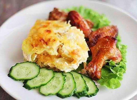 Картофельный гратен. Французское слово Гратен (Gratin) означает способ