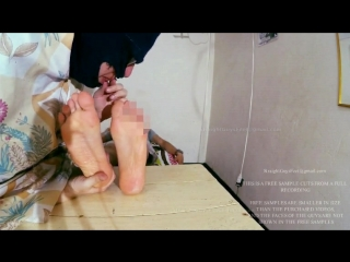 Young straight guy feet licked and sucked