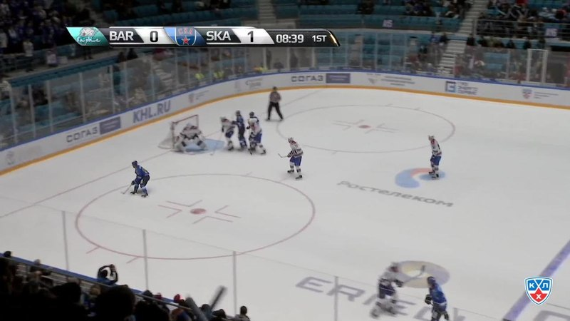 Моменты из матчей КХЛ сезона 1415 • Сэйв. Ян Лацо (Барыс) выручил команду 28.10