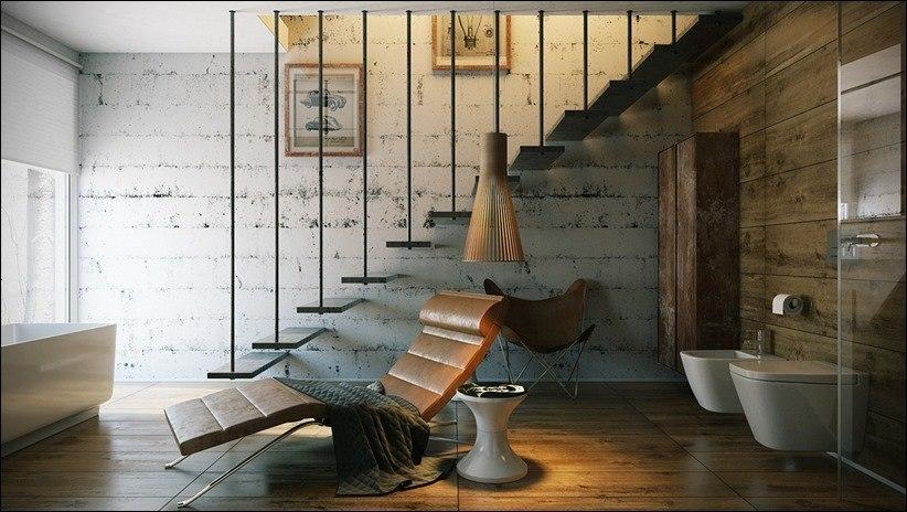 Роскошная ванная комната с высокой степенью детализации.