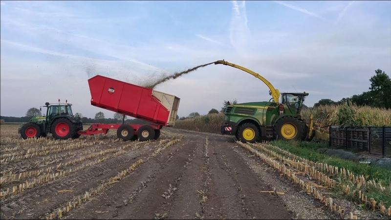 NEW John Deere 8700i mais hakselen 2018. ALL FENDT. maishackseln 2018 forage harvesting