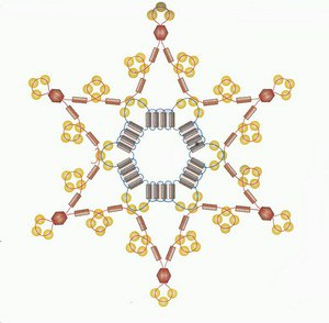 Бисерные снежинки