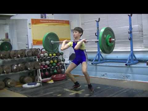 Шумихин Артур, 12 лет, собст вес 31 8 Толчок 32 кг Есть личный рекорд!
