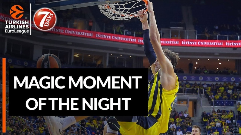 7DAYS Magic Moment of the Night Jan Vesely, Fenerbahce Istanbul