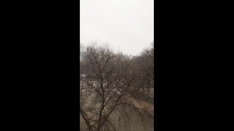 Пиздато падает снег 1