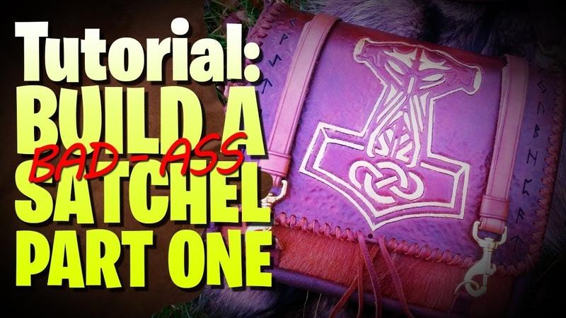 Build A Leather Satchel Prep The Veg Tan - Part One 🔰❤ leathercraft handmade (Tutorial)