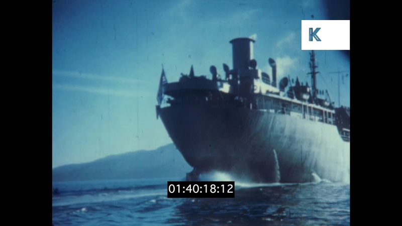 Onboard a Liberty Ship, 1940s US Navy, WWII in Colour, HD