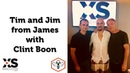 Tim and Jim from James chat to Clint