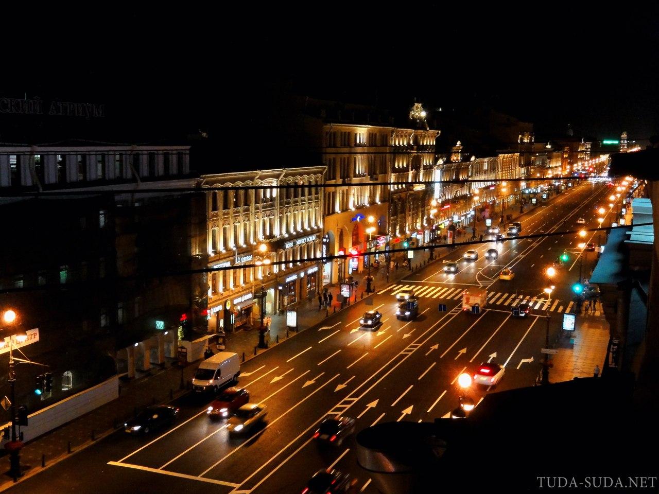 Ночные крыши Питера фото