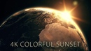 Highly detailed realistic sunrise over planet Earth animation After Effects