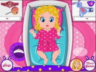 Игры барби уход за малышкой barbie s baby