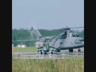 Ми-24 и Ми-26. Разница в размерах