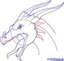 Как рисовать голову дракона поэтапно.