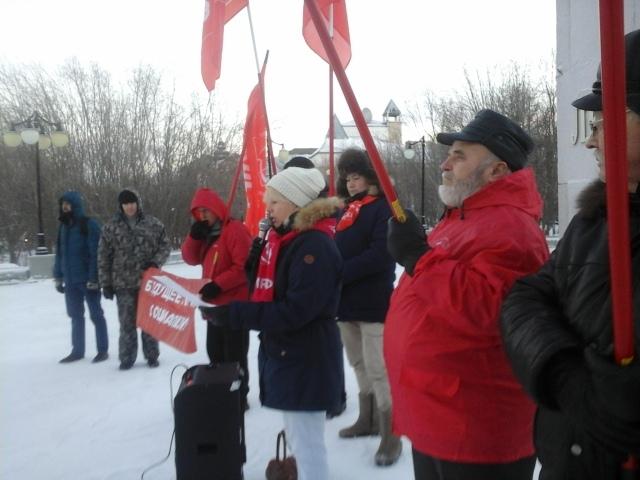 В Салехарде прошел митинг в защиту социальных прав граждан