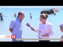 В Евпатории в море купают слонов! Прямое включение корреспондента «Крым 24» Александры Карнович