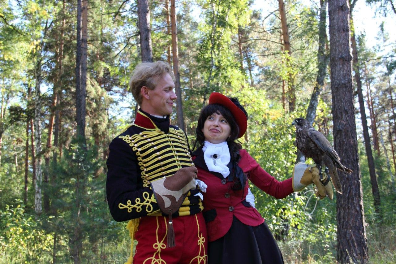 Барнаульская школа старинного танца в питомнике Алтайфалькон