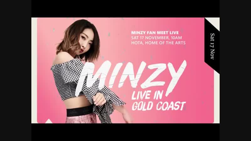 Minzy (공민지) Fanmeet (팬미팅) Gold Coast Au (호주 골드코스트 ) 18-11-17