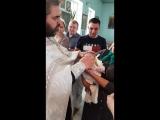 крещение.отрезание волос,которых нет😘