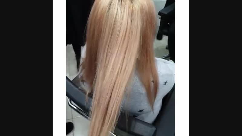 Как с помощью техники Volume hair можно освежить блонд и добавить рельефа🤓☝️ студентымиллерлучшие выполняли данную работу👩🎨👩
