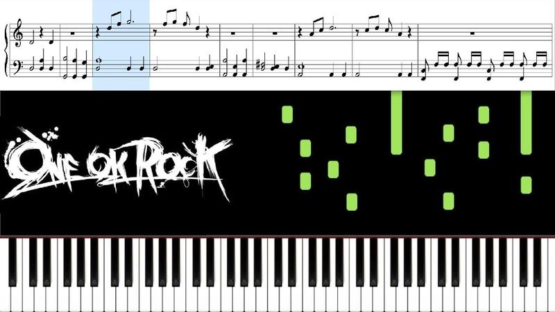 Change (ONE OK ROCK ) - Piano Tutorial Sheets