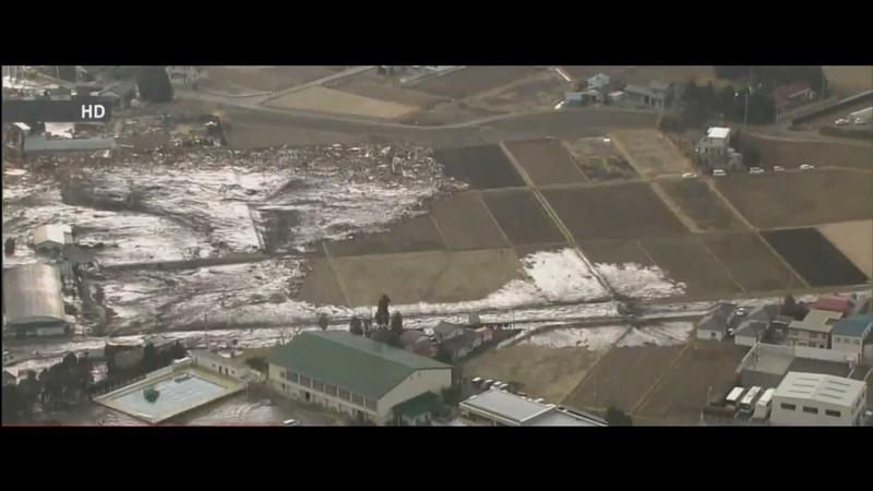 【1080p】仙台市名取川河口の津波襲来時の状況 空撮