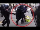 ACTE 17 - Police HAINEUSE le Pacifique Gilet Jaune au Tambour VIOLEMMENT BALAYÉ