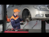 Замена передних тормозных колодок и дисков в Шкода Суперб 2 (Skoda Superb 2)