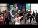 LONDON, the hilarious ROMAN WARRIOR street performer at COVENT GARDEN