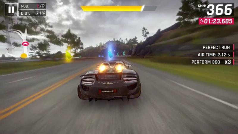 Asphalt 9: Legends / Porsche 918 Spyder: Contest / 01.53.7xx (5%)