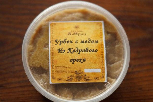 Урбеч с медом (кедровый орех) вес 150 грамм