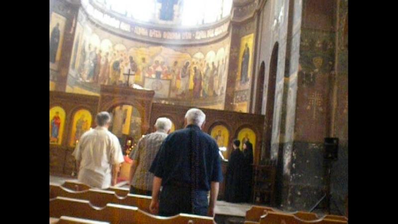 служба в Ново-Афонском монастыре