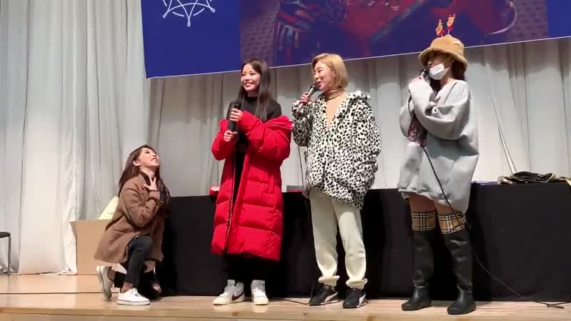 Yongsun's reaction when a moomoo shouted 이상해 and her admitting it herself thats shes weird.