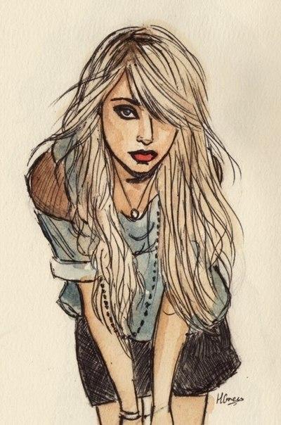 красивые картинки девушек. нарисованные