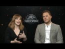 Chris Pratt y Bryce Dallas alaban el trabajo de Bayona en Jurassic World