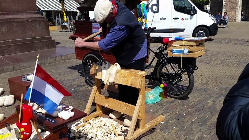 Делфт - как это сделано нидерландский сабо - Delft - így készül a holland fapapucs