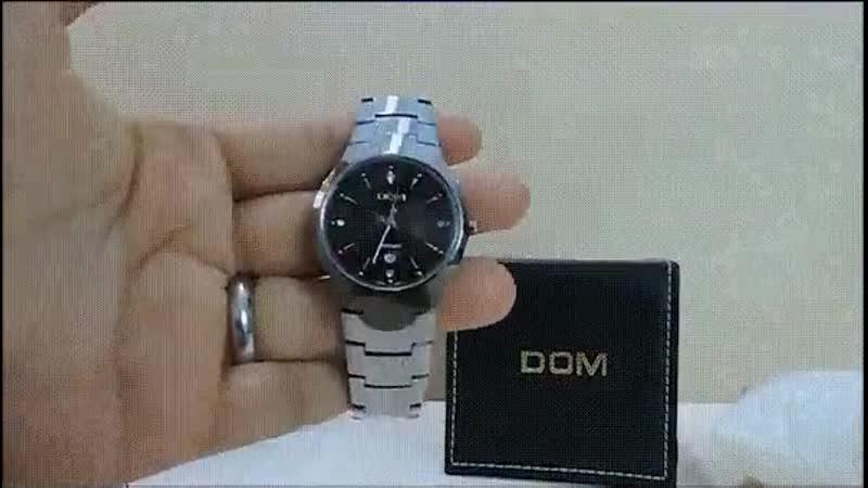 Мужские часы Dom - невозможно поцарапать или утопить!