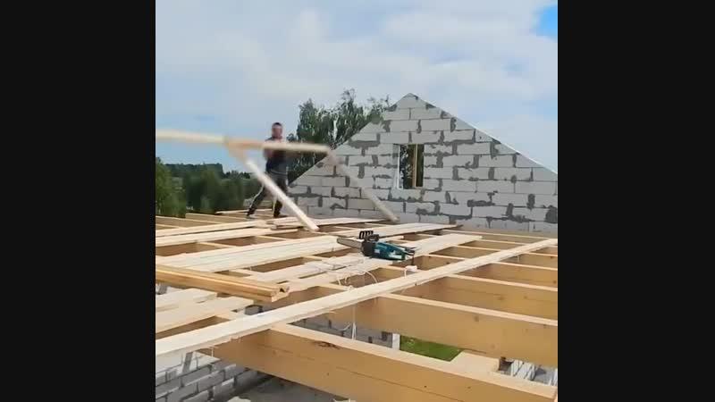 Строительство крыши. Стропила - Глаза боятся - руки делают