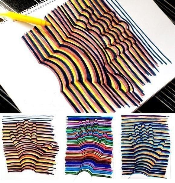 инструкция:Как сделать 3D рисунок ...: liveinternet.ru/users/malena0178/post297627363