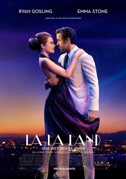 Красивый постер фильма «Ла-Ла Ленд» с Райаном Гослингом и Эм