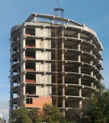 Диафрагмы жесткости в железобетонных каркасных зданиях
