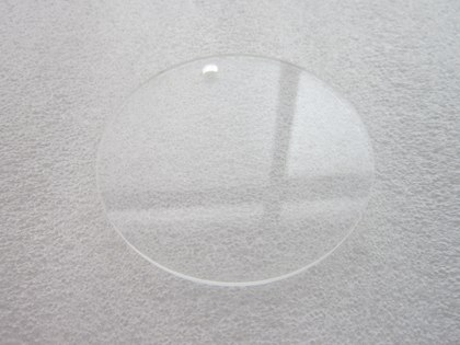 clear acrylic laser cutting for circle disc