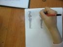Две Кати не хотят рисовать человека, а ведь он у них получается!