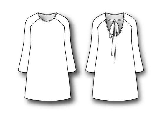 Платья с рукавом реглан выкройки фото