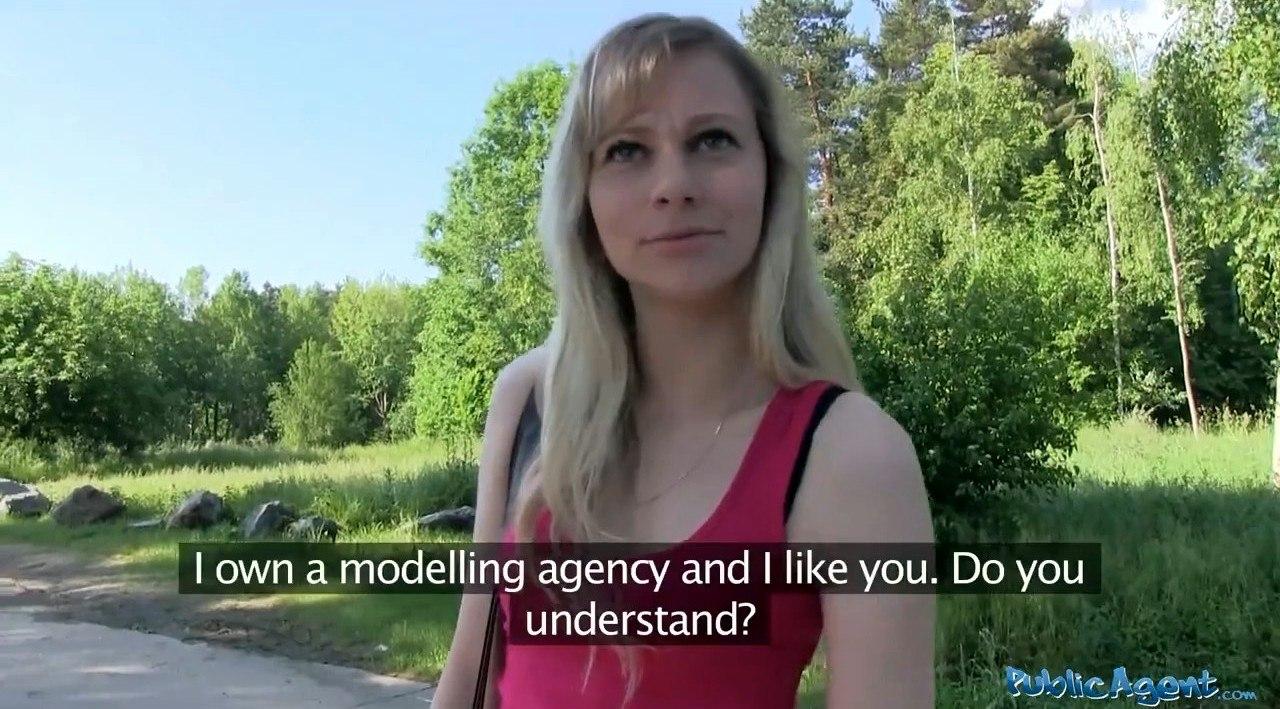 PublicAgent Cherry Tess E305 Желанная блондинка отсасывает в лесу