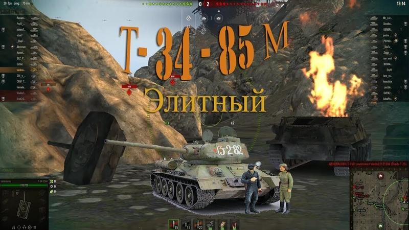 Танк Т 34 85 М во всей красе interesting moment Т 34 85м World of tanks Танки Wot