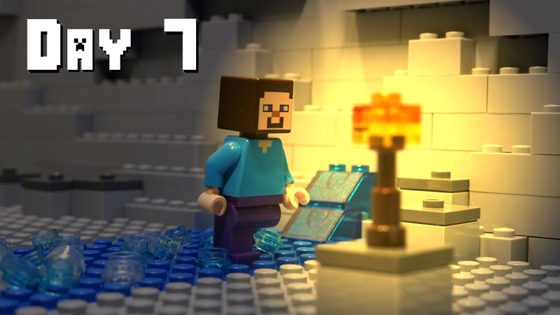 LEGO Minecraft Survival Day 7 Stop Motion Animation