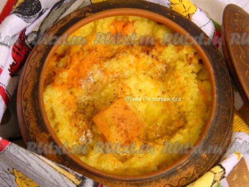 Пшённая каша с тыквой в духовке рецепт