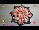 👊 Descanso de Panelas-Flor Estrela do Oriente-Pink Artes Croche by Rosana Recchia